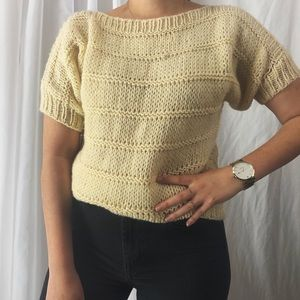 VINTAGE/ hand-knit top